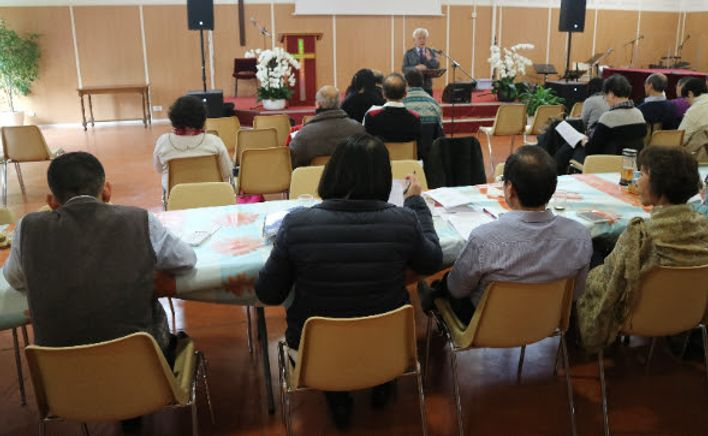 Sermon in a chinese church